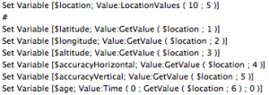 Parse LocationValues
