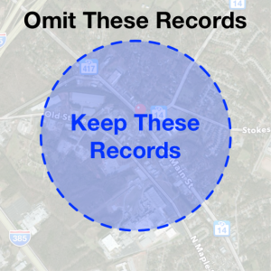Circular Record Scan Visualization