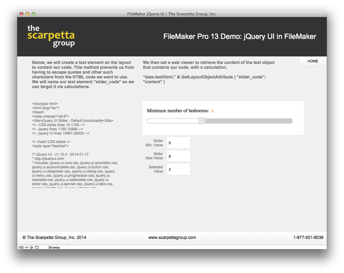 Using jQuery UI in FileMaker – Part 2 - The Scarpetta Group