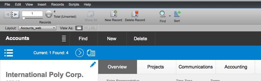 FileMaker Button in Web (After)