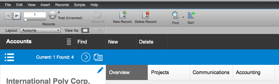 FileMaker Button in Web View (Before)