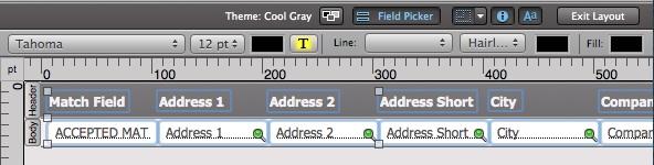 Field Picker by Field Name Order