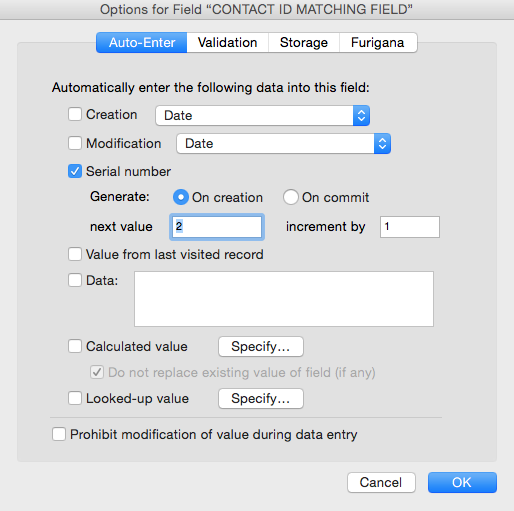FileMaker Pro Function Review—Auto-Enter Serial Number