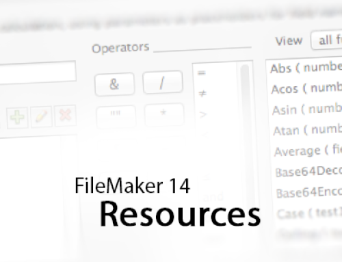 FileMaker 14 Resources