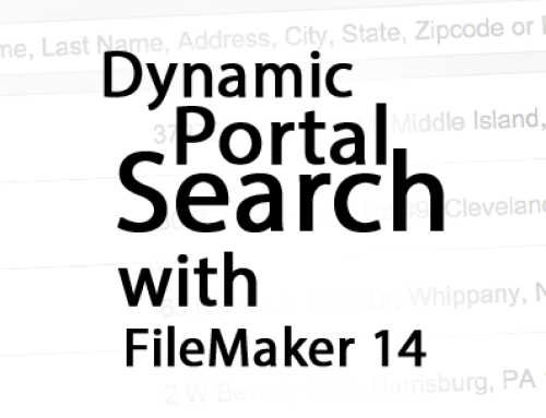 Dynamic Portal Search with FileMaker 14