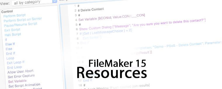 FileMaker 15 Resources
