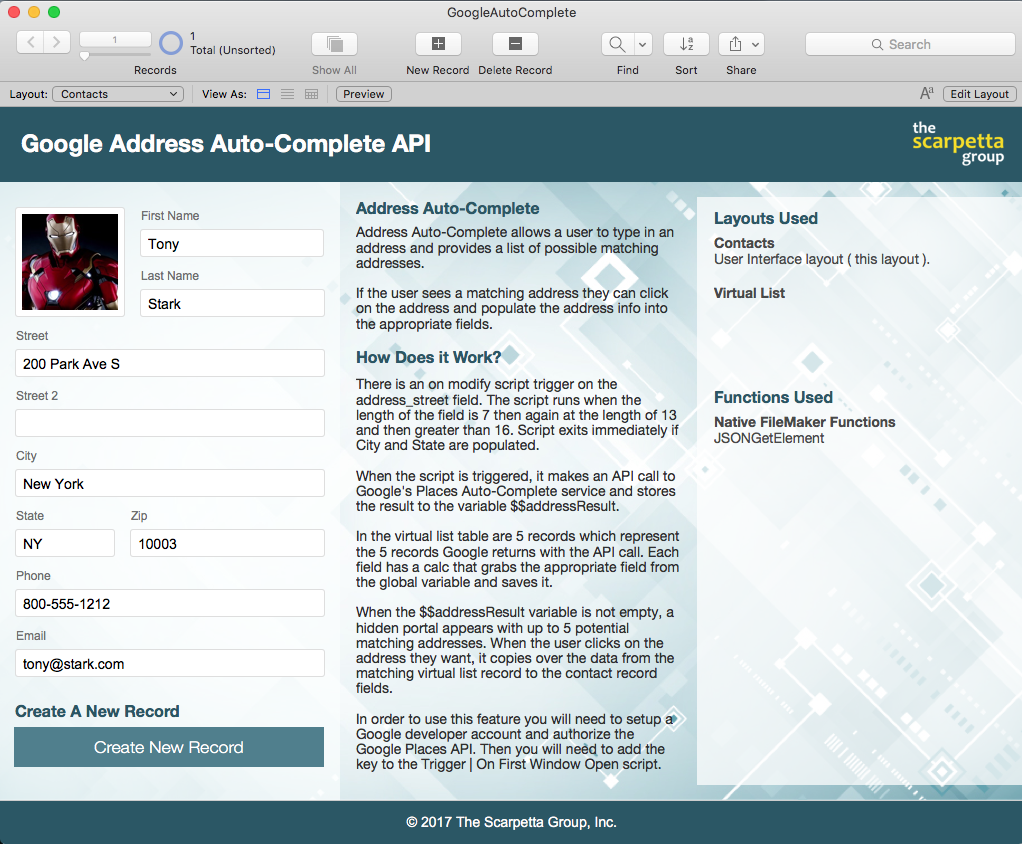 filemaker how to connect contacts and content
