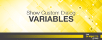 show custom dialog variables