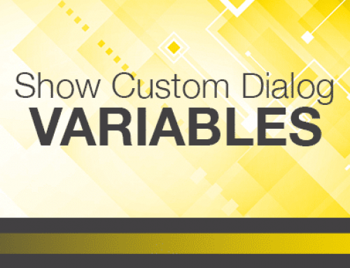 Show Custom Dialog Variables in FileMaker® 17