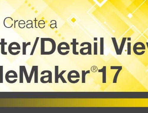 How to Create a Master/Detail View in FileMaker 17