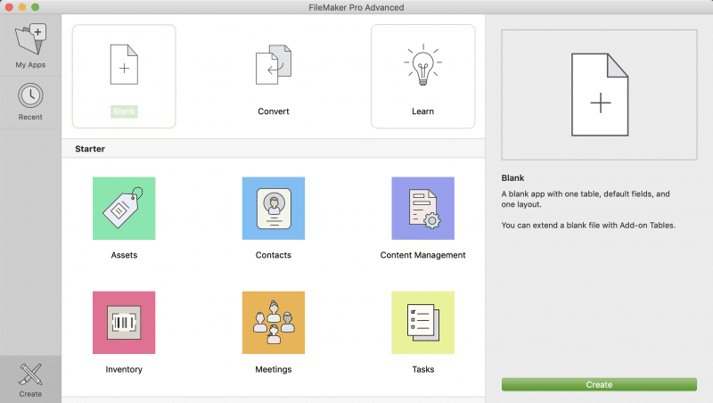 FileMaker Starter App