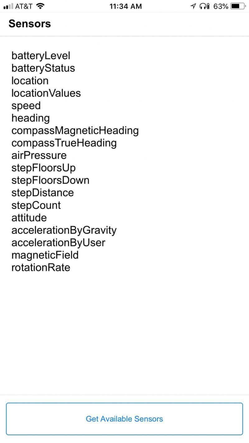 FileMaker Sensors